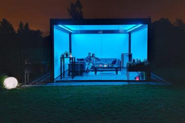 lampa tarasowa niebieska
